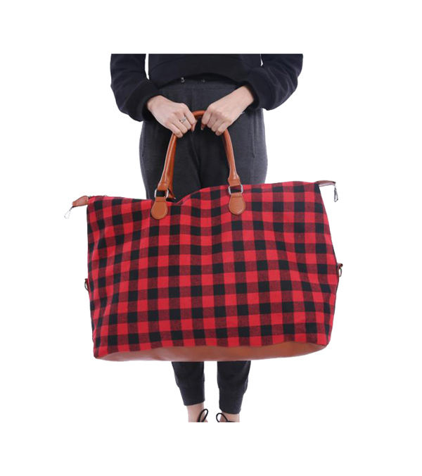 New design cheapest might Buffalo Check Tote Weekender Bag Purse - handbags for cute women