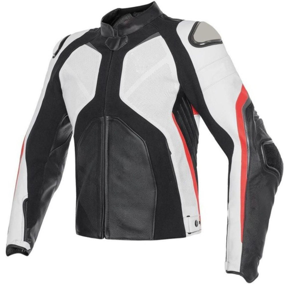 Motorcycle Racing Fashion Leather Biker Riding Jacket
