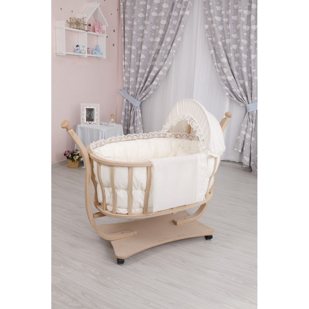 Best Price Wooden Baby Cradle Up To 12 Month Infant Bed Crib