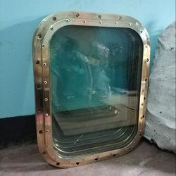 18x24 Brass Ship Window