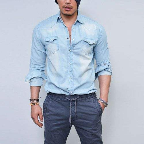 Fashion Jean Tops Cool Boy Jeans Shirt