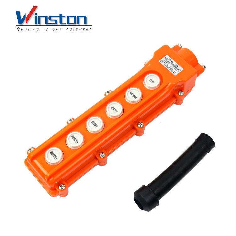 For Hoist Crane Pendant Control Station Push Button Switch Rainproof COB-62H 1