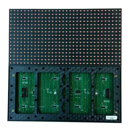 High Brightness Single Red Outdoor Waterproof Programmable - P10 LED Display Module 320 x 160mm For Video Wall