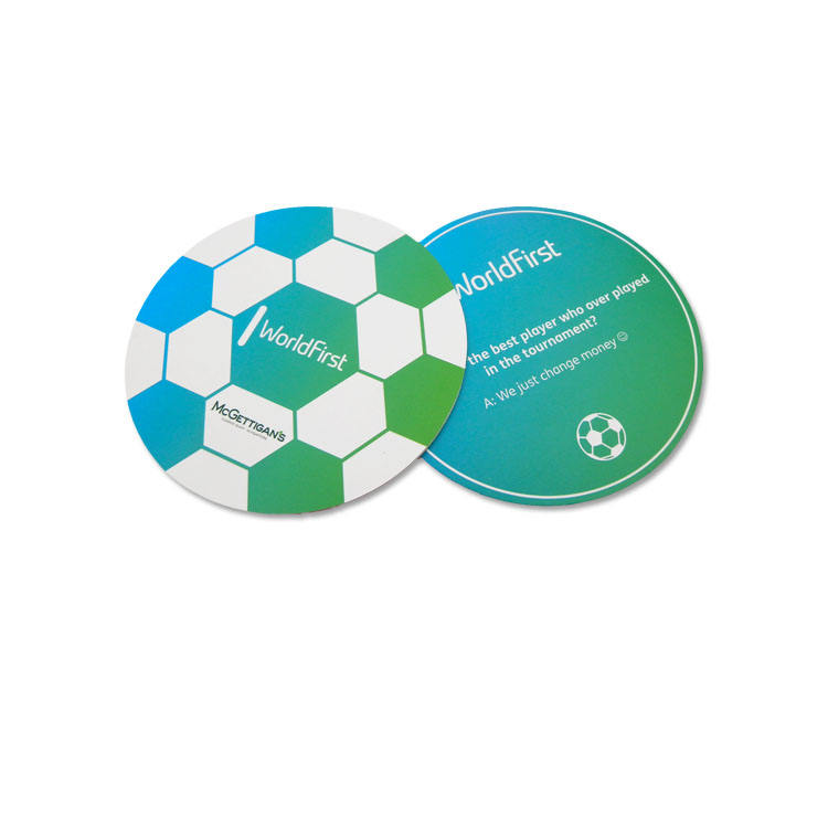Custom shape die cut PVC or paper round shape business card irregular shape business card