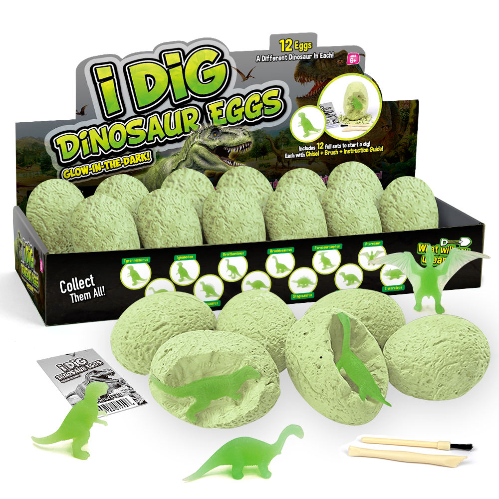 Wissenschaft Pädagogisches Spielzeug Für Kinder/Dinosaurier dig Es Up Eier/Wachsen in Der Dunkelheit