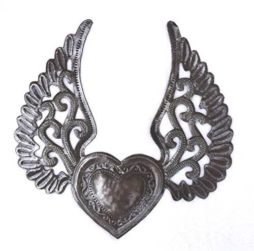 Sacred Milagro Heart with Wings