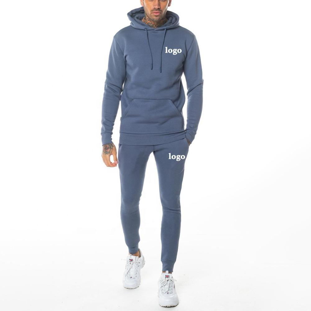 Design your own tracksuit wholesale custom logo mens sweatsuit pullover jogging suits