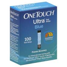 Bulk OneTouch Ultra Blue Blood Glucose Test Strips, 100 Ct