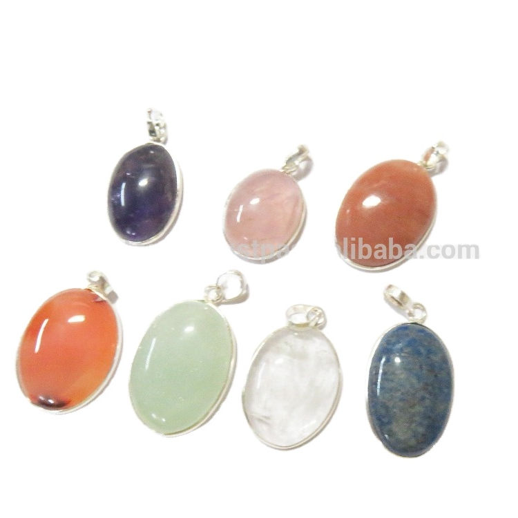 Assorted 925 STERLING silver 925 STAMPED Natural Stone Jewelry Gemstone Pendants WHOLESALE