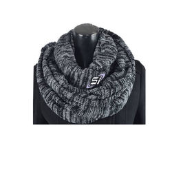 autumn and winter solid wool knit collar scarf Men women plain warm Infinity neck Circle Loop scarf