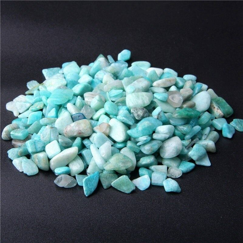 Natural stone Amazonite chips wholesale amethyst stone chip crystals home decor flower pot decor