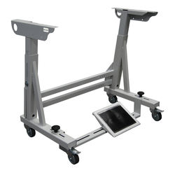 Sewing machine table stand REX-2/HD on wheels