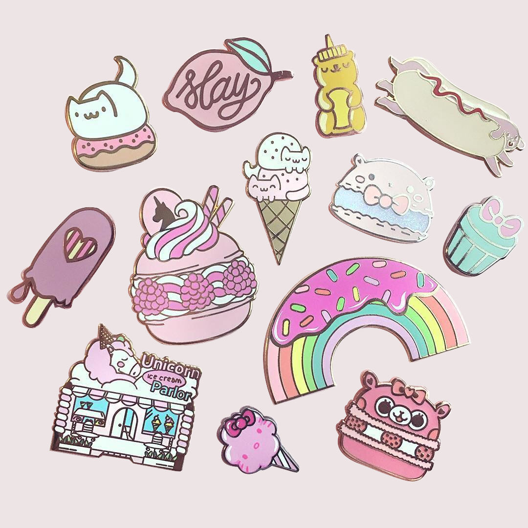 New Trend Hot Sale free sample unicorn ice cream kpop enamel pin badge Metal Lapel Pins for Clothes