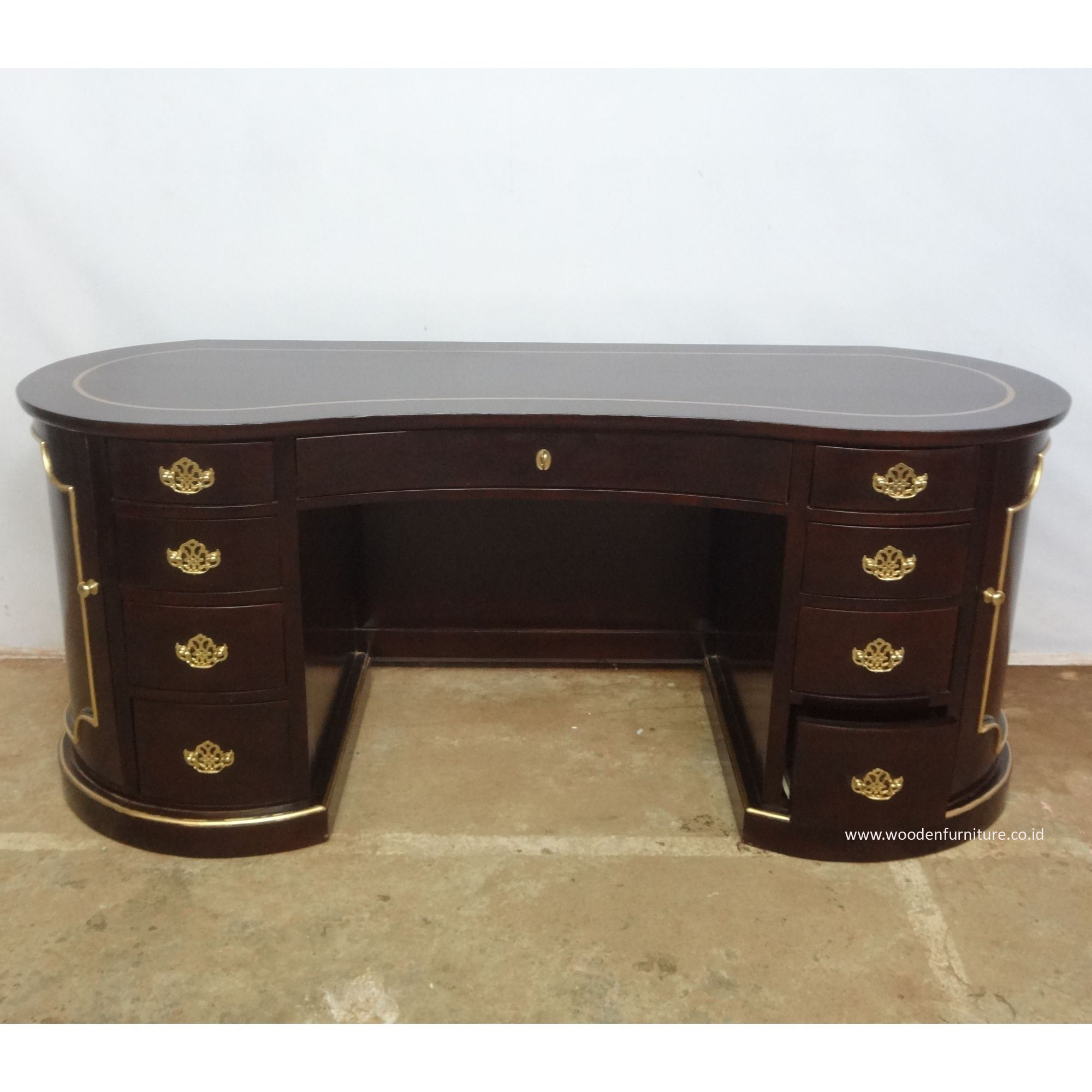 Secretary Writing Table Executive Desk President Desk Antique Reproduction Office Furniture