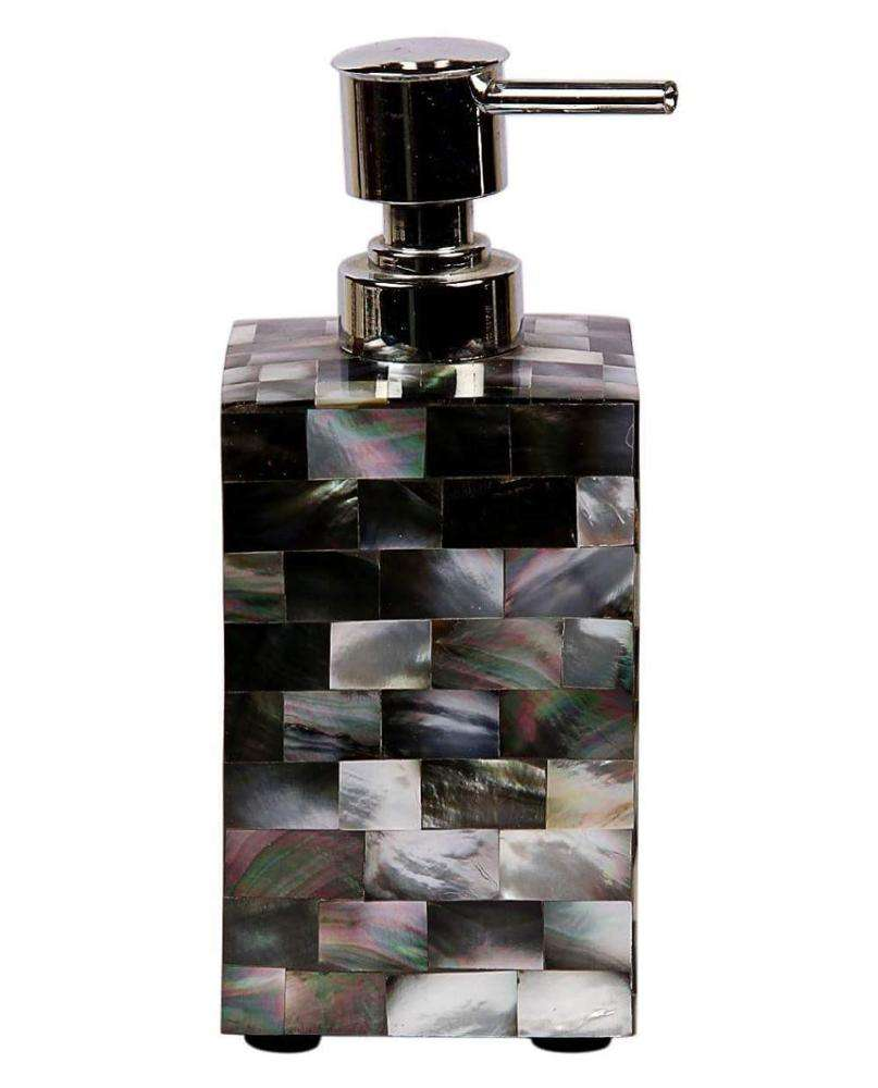 Indian Black Mother of Pearl Bathroom Soap Dispenser for Home