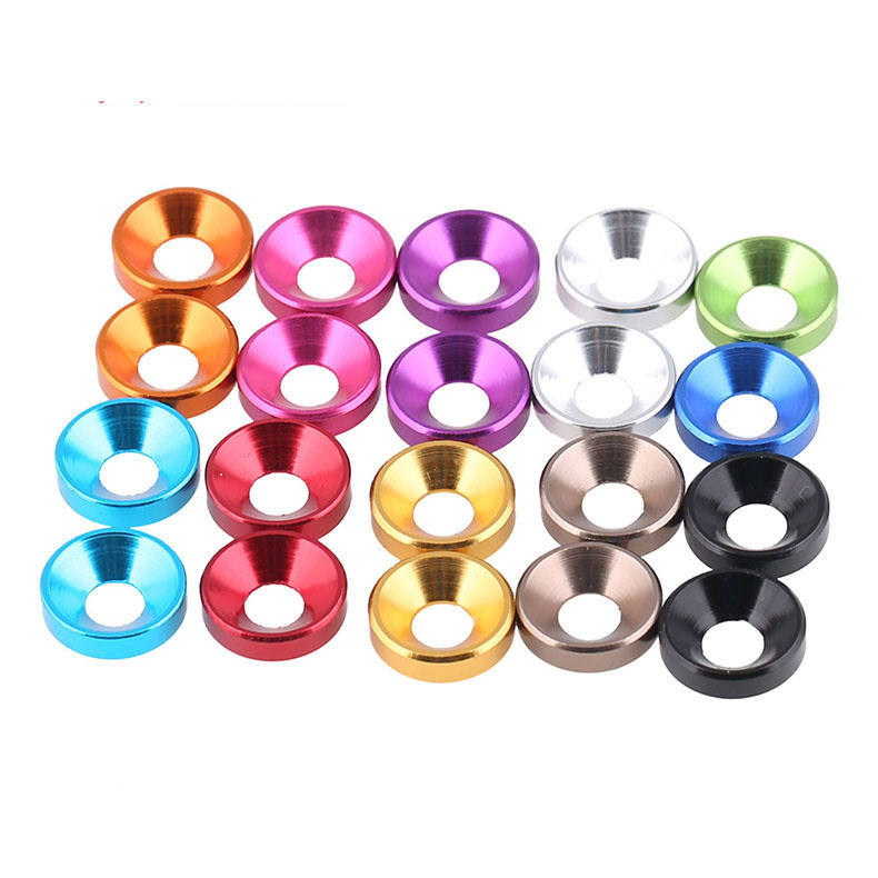 M2 M2.5 M3 M4 M5 M6 aluminum alloy countersunk head washers anodized aluminum cone washer