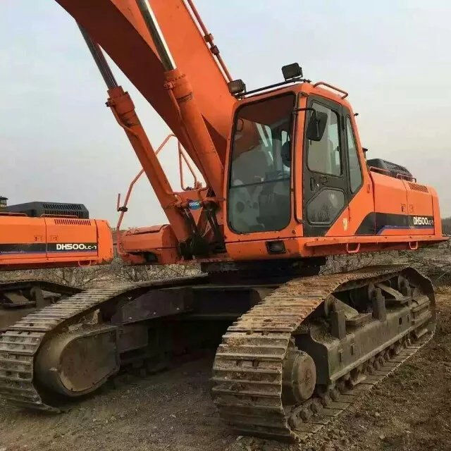 korea good secondhand original doosan DH500LC-7/DX500LC-7/50t excavator for sale/korea used forklift dh500-7 digger