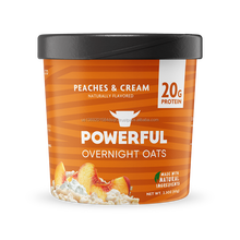 A creamy breakfast - Peaches & Cream Overnight Oats