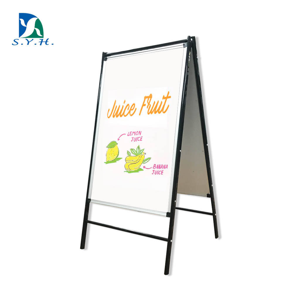 Multi function foldable magnetic free standing poster white board