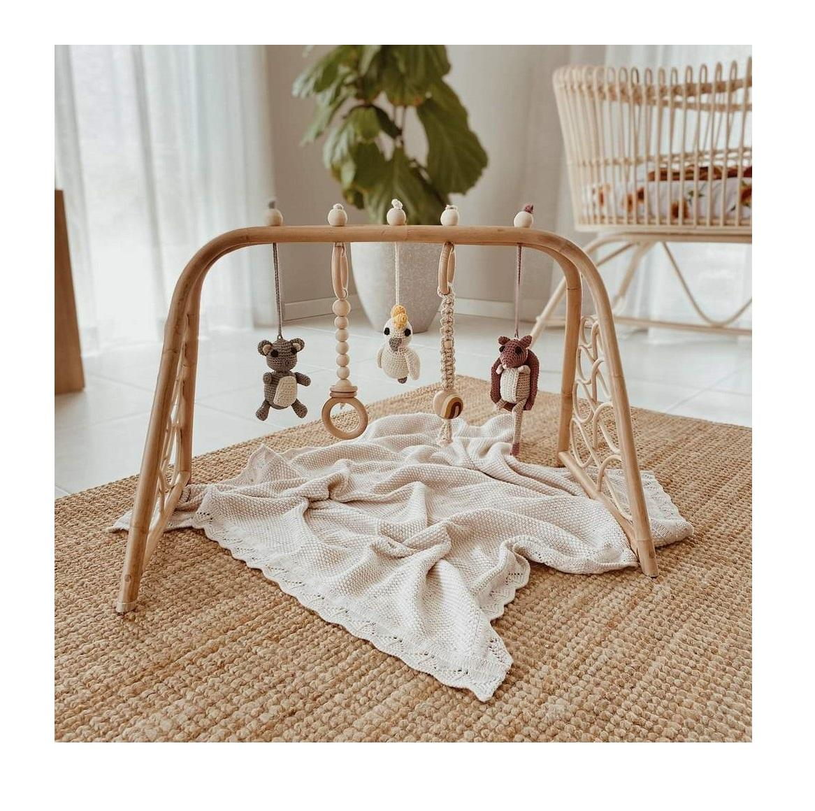 Natural eco friendly wholesale rattan baby gym play