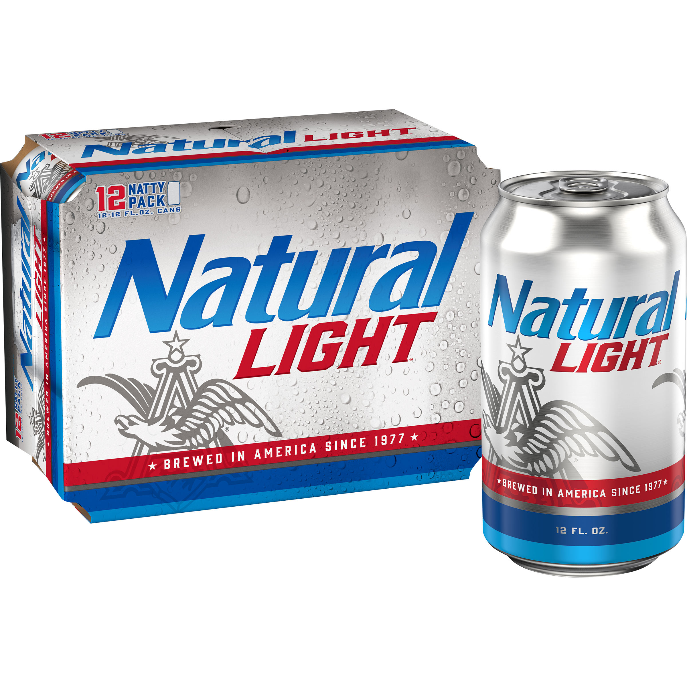 Natural Light Beer, 30 Pack champagne style lager Beer