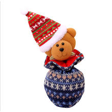 Injaevina   Christmas decoration indoor candy knit bag child's Christmas gift bag with cartoon doll