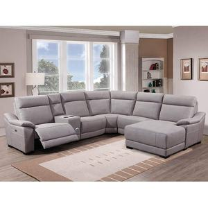 L Shape Living Room White Modular Modern Sectional Sofa With Recliner