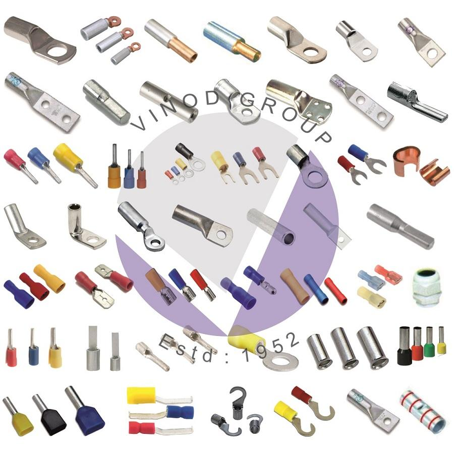 Copper Tube Terminal, Lugs, Splices, Ring Terminal, Reducer PIn Connector, Bi Metallic Terminal Connector, Insulated