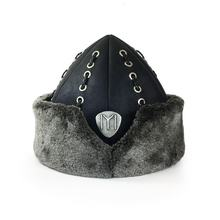 Top Quality Leather Ottoman Kayi Ertugrul Dirilis IYI Traditional Fur Hat / Bork