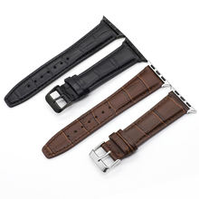Genuine cow leather watch strap for Apple Watch Band 42mm 38mm series 4-1 iwatch 4 44mm 40mm watch bracelet
