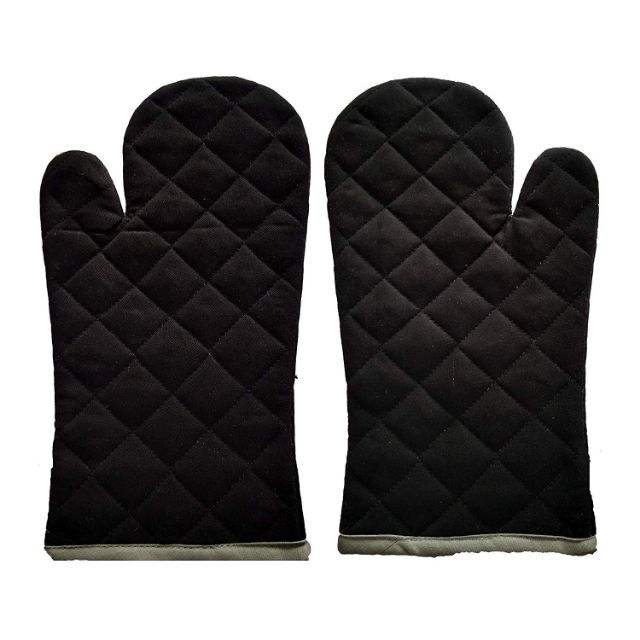 Thickened Insulation Waterproof Microwave Silicone Oven Gloves with Cotton Cloth Inside
