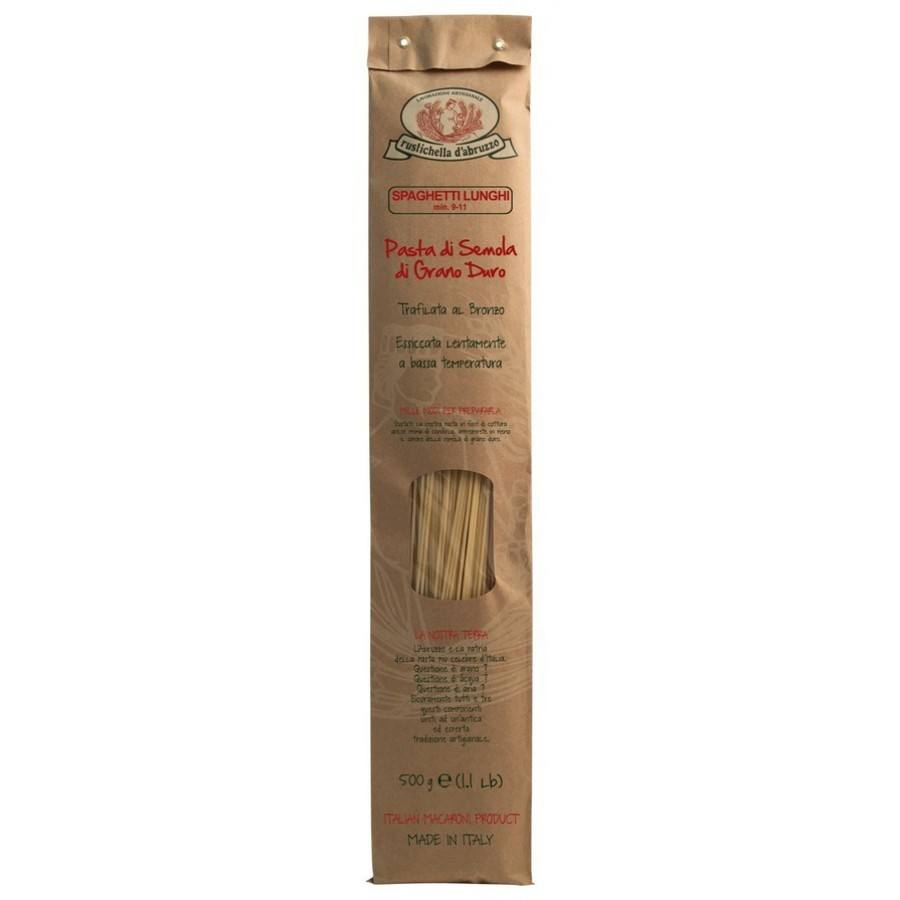 Spaghetti 500gr durum wheat flour, high quality, bronze drawn pasta, 13% protein