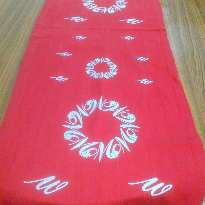 Printed wedding table runner