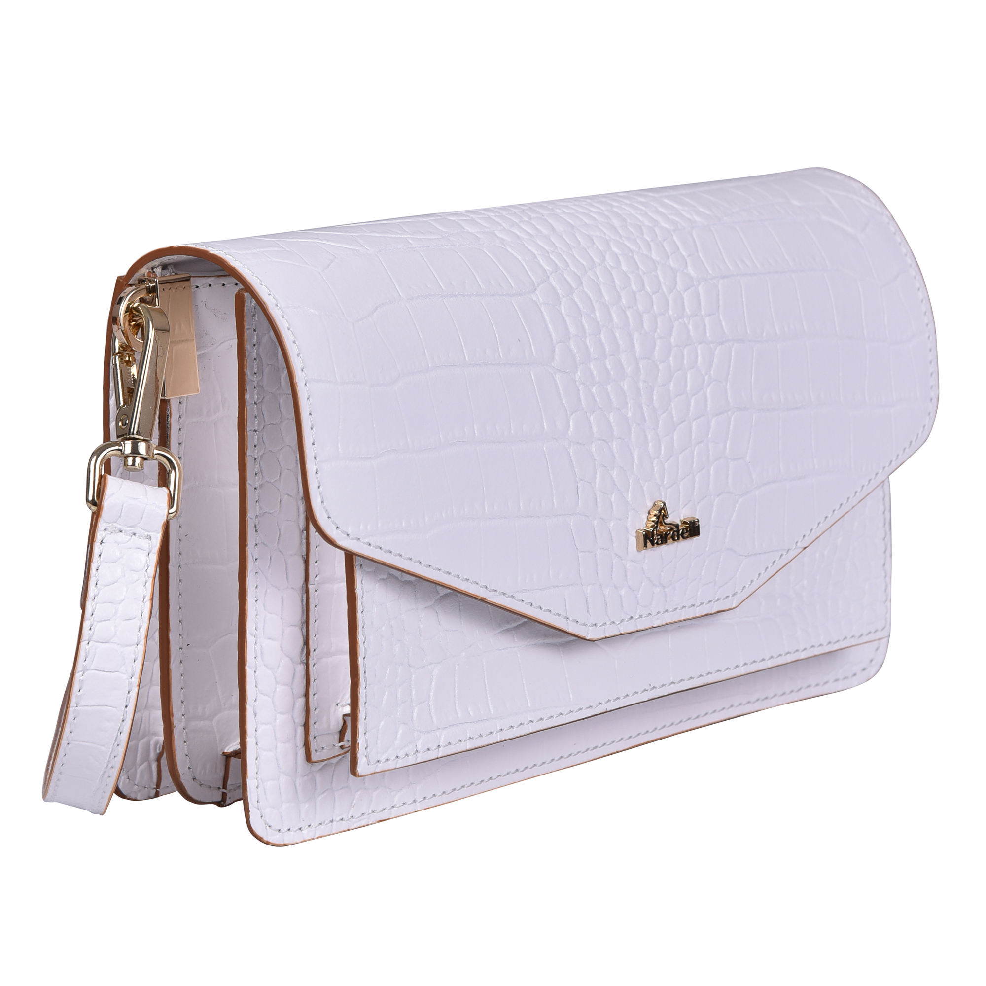 White Custom Design Handle Messenger Bag Envelope Purse Women Clutch Bag Made In Italy