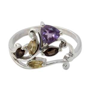 amethyst, Citrine, Smokey ring girls 925 sterling silver jewelry bulk wholesale ring natural gemstone silver jewelry suppliers