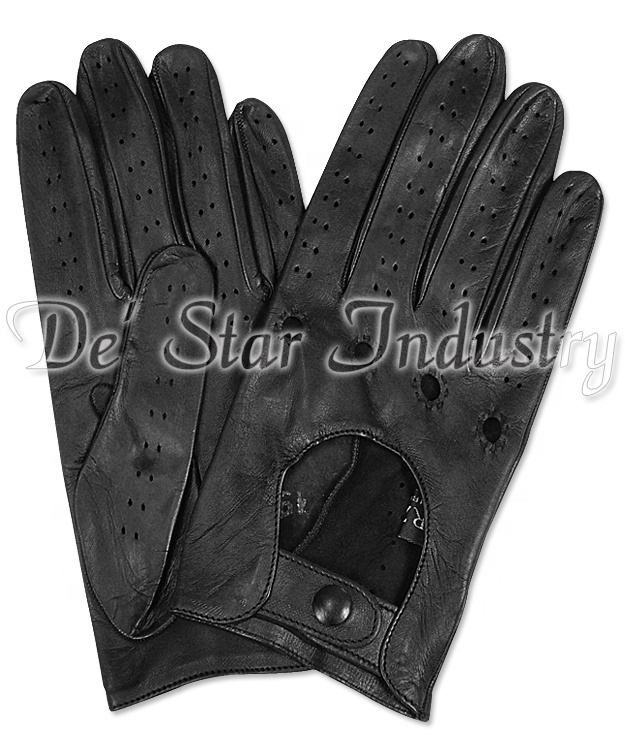 Women leather driving glove