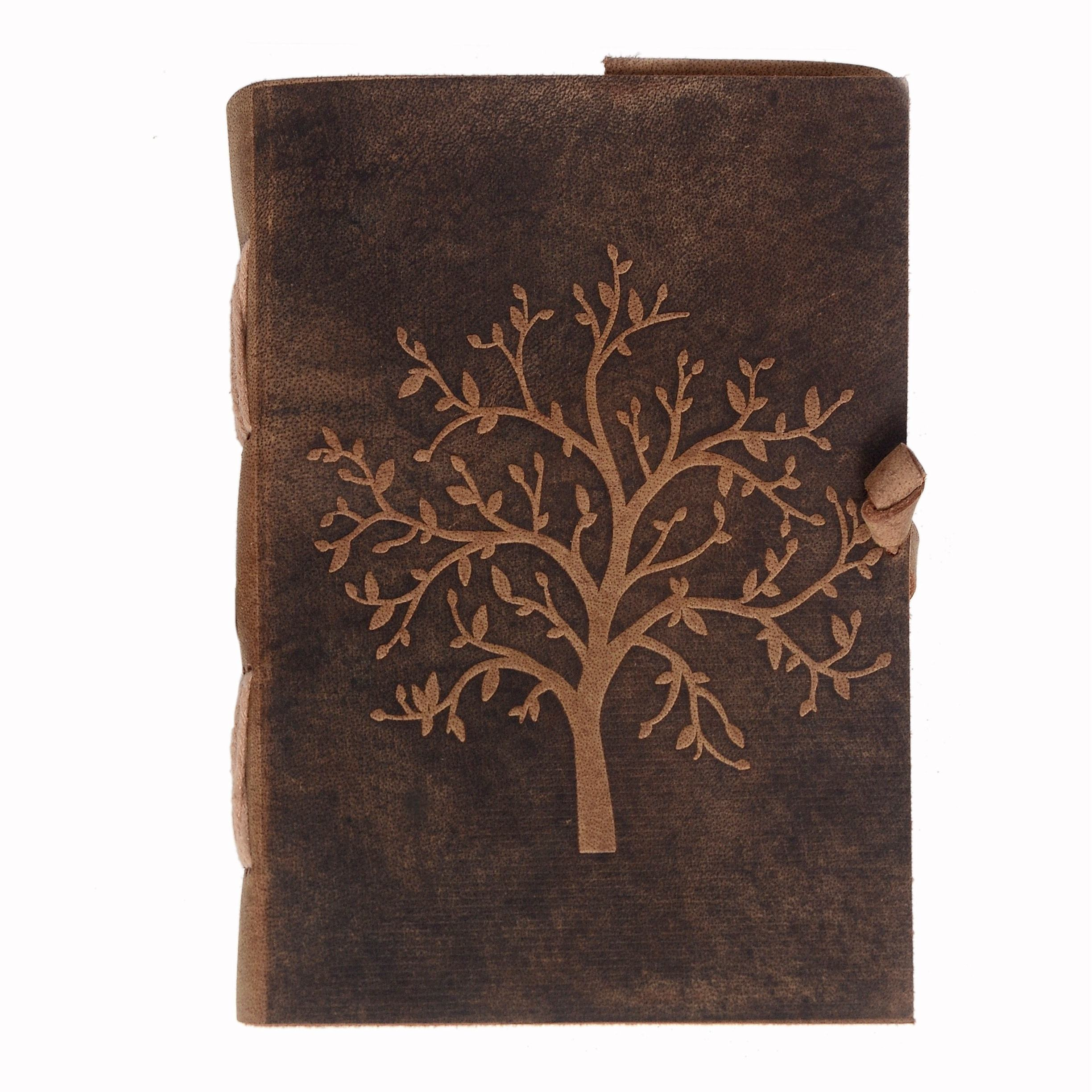 Tree of Life Leather Embossed Journal Notebook Diary
