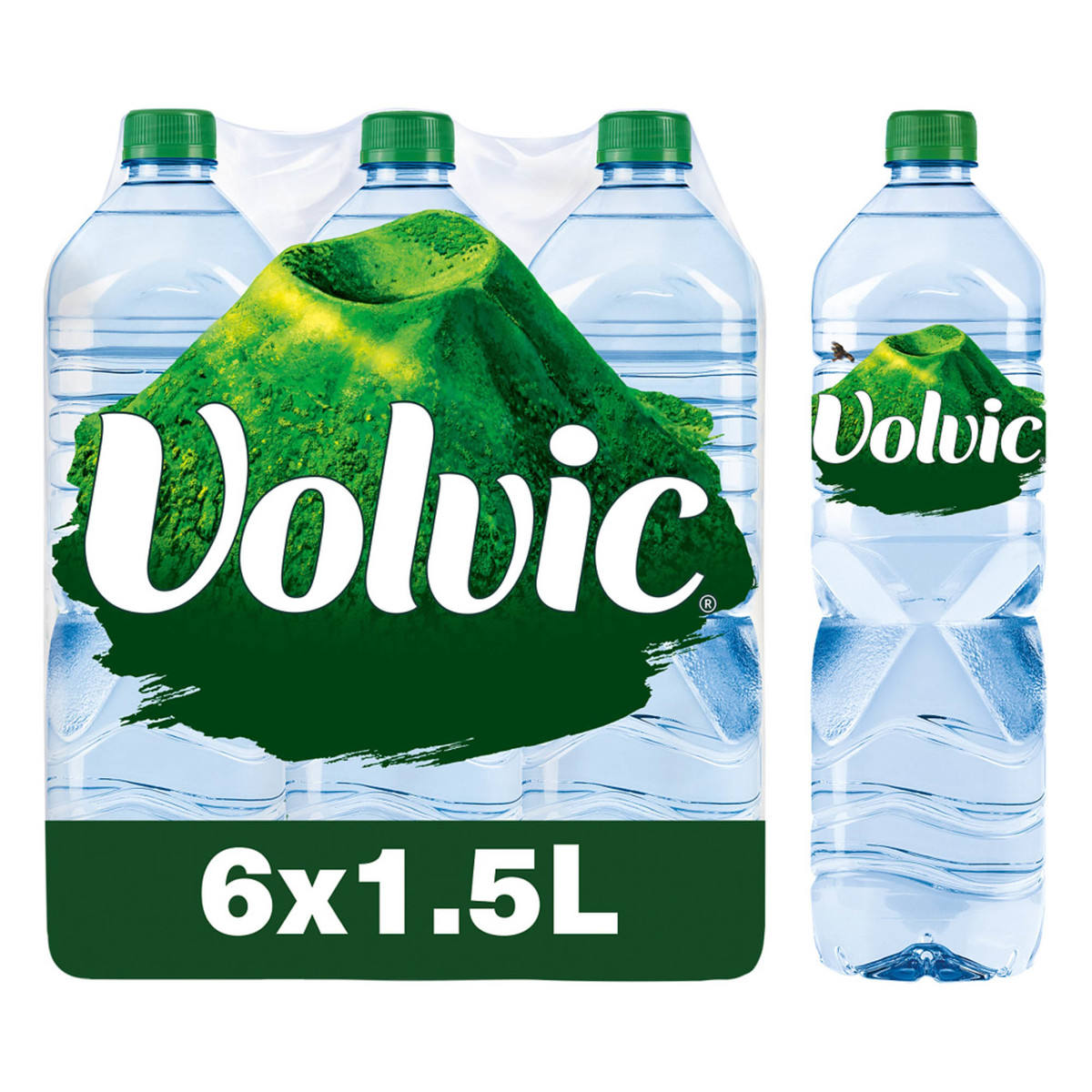 Volvic Sparkling Mineral Water, 6 x 1.5 L