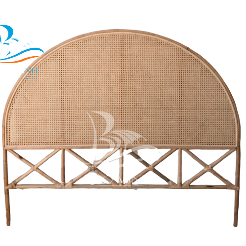 Queen rattan headboard with cane webbings