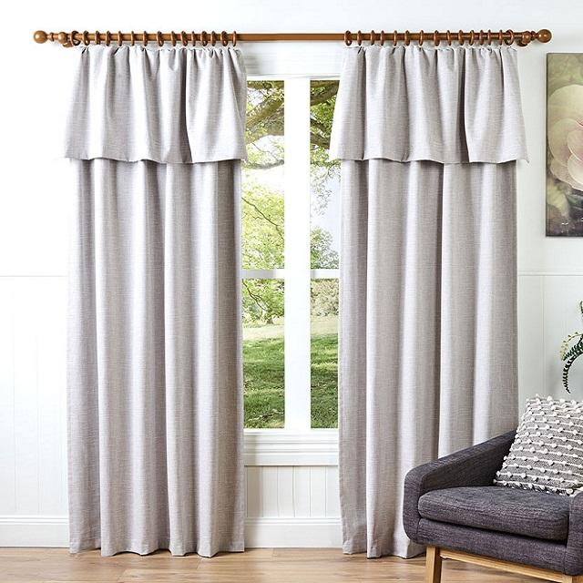 Most popular Nature Cotton linen blackout window curtain for Homes