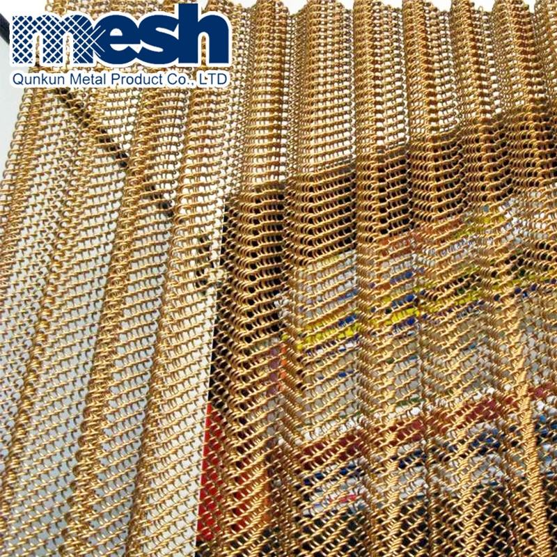 Decorative Metal Curtain Coil Drapery Mesh Panel Wall