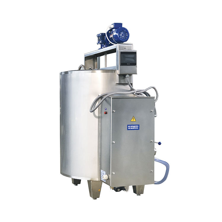 Long-term pasteurization vat for heating and / or cooling milk or cream