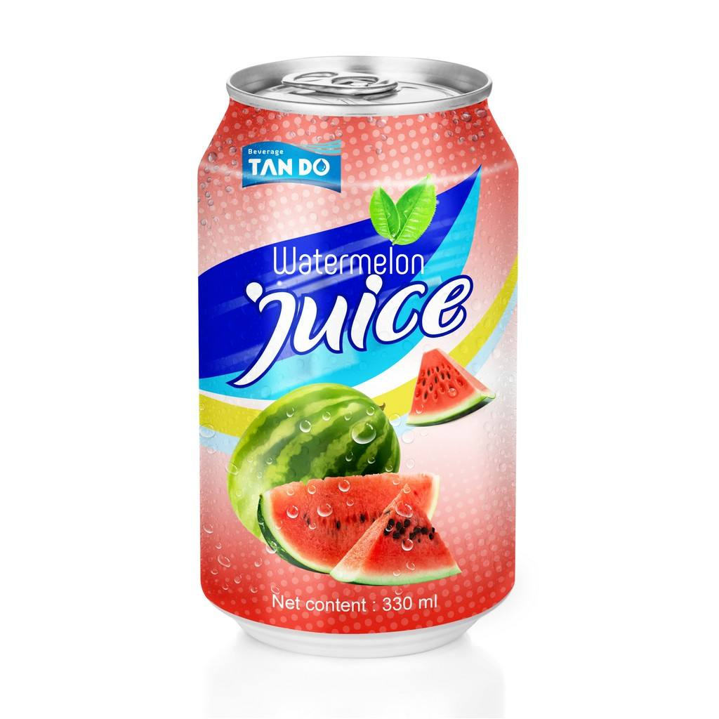 HIGH QUALITY - FRUIT JUICE WATERMELON FLAVOR CANNED 330ML