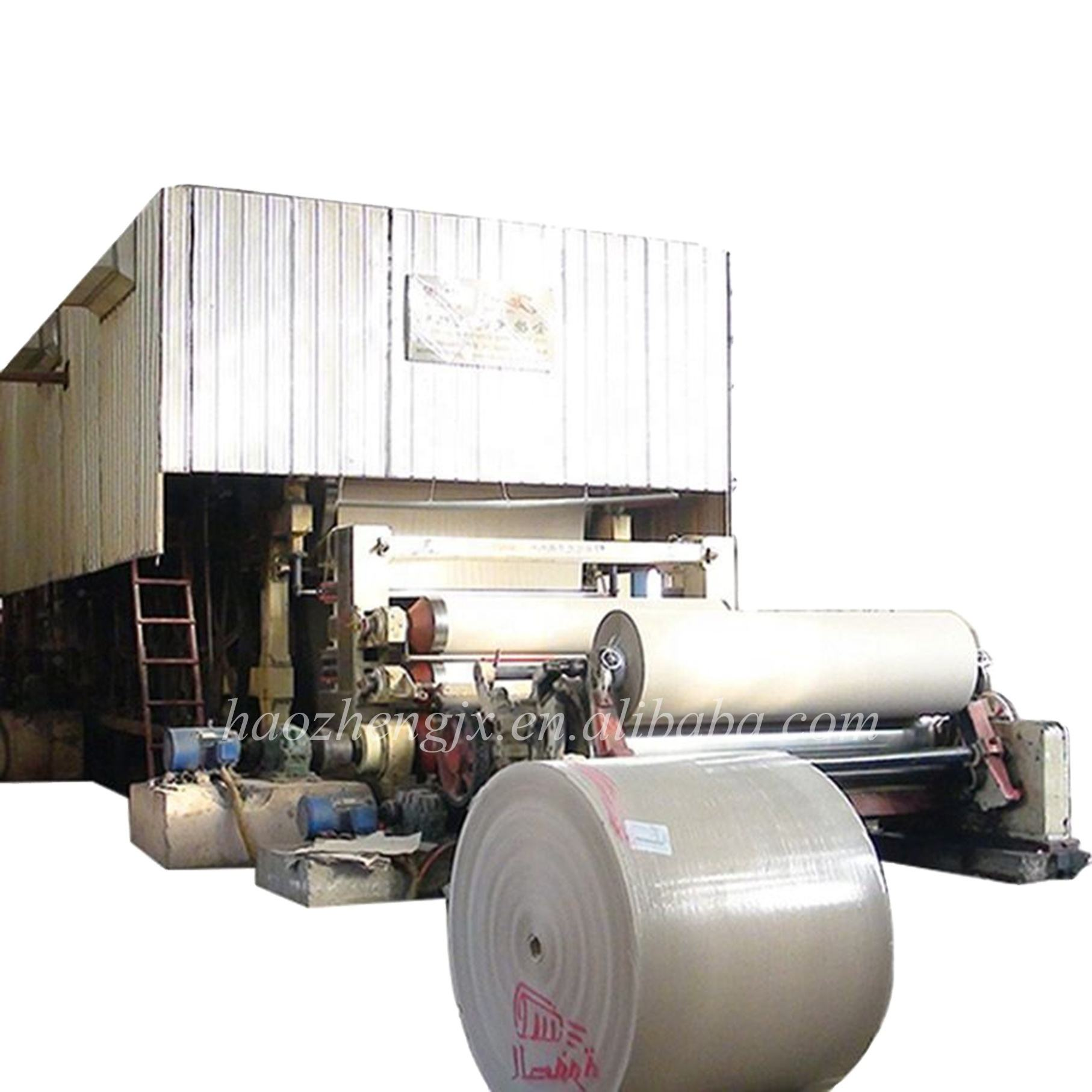 From Raw Materials Wheat Straw, Cotton, Wood Pulp, Food Packaging Paper Machine Craft Paper Manufacturing Production Line Prices