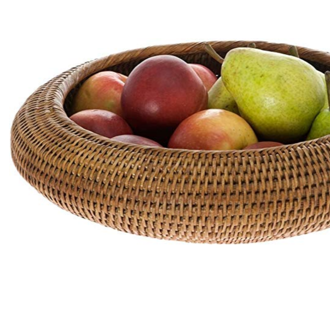 Eco-friendly Nature Rattan Fruit Basket for Multi-purpose Storage