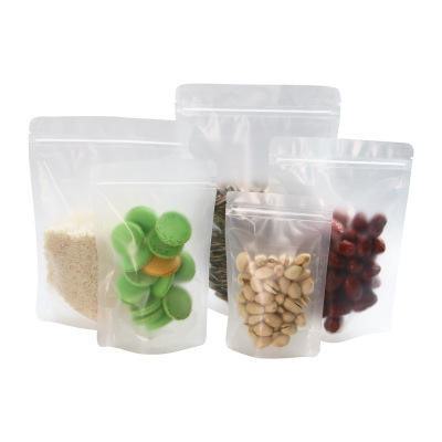 Custom size Clear stand up Transparent plastic zip lock bags with zipper
