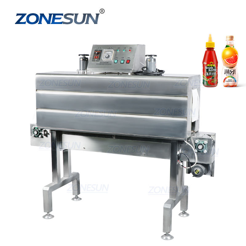 ZONESUN ZS-SX403 Thermal Automatic Heat Advanced Bottle Cling Shrink Tunnel Film Wrapping Packaging Sealing Machine