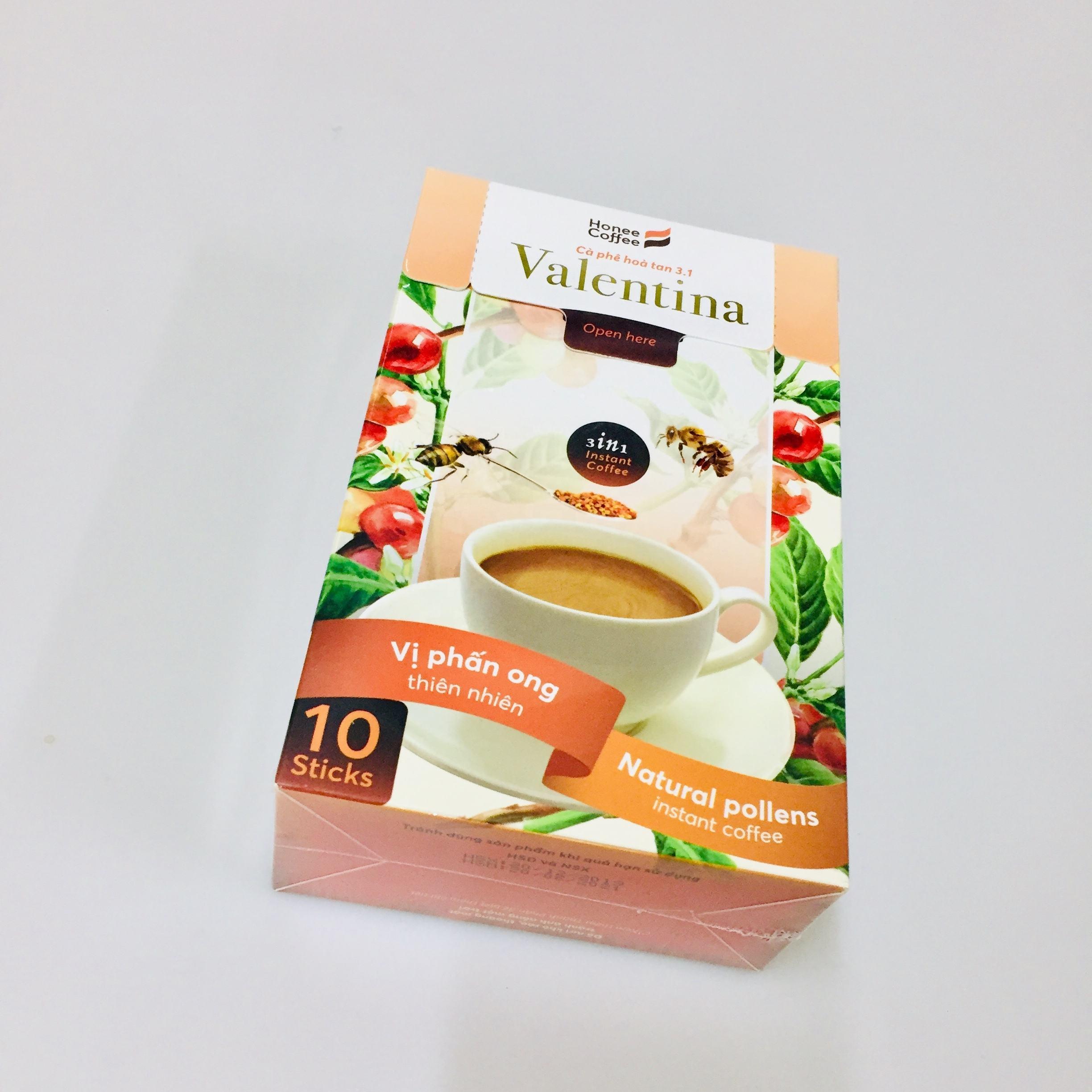 Honee marca de café-café instantáneo 3in1 café natural con el polen de abeja de Vietnam