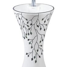 printed modern art colored wash basin pedestal direct from manufacturer factory wholesale price best quality kolan set