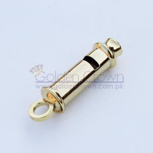 Police Whistle Gold | Attractive Price Train Whistle Police Whistle Metal | cheap Gold Whistle Necklace Metal Brass